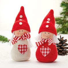 Best 8 Girl gnomes with hearts Valentine's Day diy craft decorating idea inspiration – SkillOfKing. Diy Christmas Angel Ornaments, Noel Christmas, Felt Ornaments, Christmas Crafts, Valentines Day Decorations, Christmas Decorations, Felt Crafts, Diy Crafts, Girl Gnome