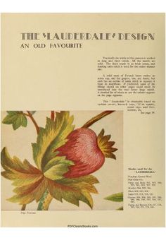 Jacobean Embroidery: Crewel Work and Traditional Designs - Embroidery - Crafts & Hobbies - PDF Classic Books