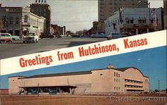 View Looking East on Second Street in Hutchinson, Kansas