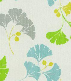 Waverly Modern Essentials Fabric-Gingko-Ago-Go / Marine & home decor print fabric at Joann.com
