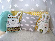 Kissen - Kissen: Indian Kaninchen - ein Designerstück von DianaP-Art bei DaWanda