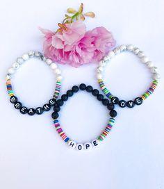 Mantra Bracelet Letter Love Friendship Personalized Yoga