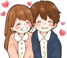 it's love 6 by toco Anime Stickers, Love Stickers, Anime Couples, Cute Couples, I Love You Girl, Cute Love Cartoons, Cute Chibi, Character Illustration, Anime Love