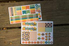 #Fall #Planner Sticker Sampler great for your #ErinCondren Follow us on Insta @bellarosepaperco for coupons and more! #planneraddict #erincondrenlifeplanner #happyplanner #plannergoodies