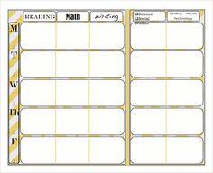 Preschool Lesson Plan Template. | CDA Binder & Portfolio