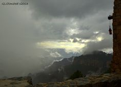 Grand Canyon filled with clouds | Monsoon cloud filled canyon from Lodge North Rim Grand Canyon National ...