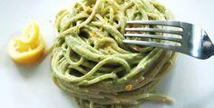 Avocado pesto pasta.  Really turning into a go-to food for me.