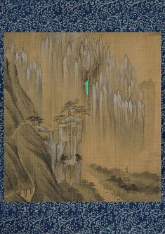 Korean Art Print  Mountain Geumgangsan Falls and Rocks by