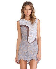 Posh Girl Blue Violet Lace Mini Dress