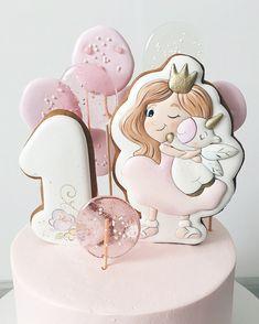 19 Super Ideas For Baby Girl Cake Birthday Decoration Baby Girl Birthday Cake, Baby Girl Cakes, First Birthday Cakes, Pretty Cakes, Cute Cakes, Beautiful Cakes, Torta Baby Shower, Easy Christmas Treats, Bolo Cake