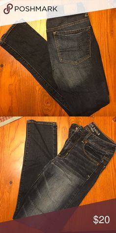 American Eagle jeans, size 2 American Eagle jeans, size 2 high-rise skinny. No rips or holes, only worn a couple times. Smoke-free home. American Eagle Outfitters Jeans Skinny