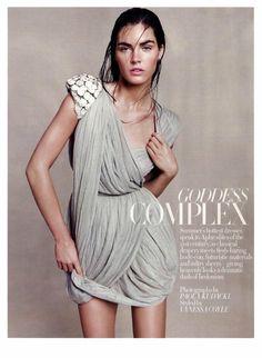 What Would Khaleesi Wear?This greek-inspired whisper-weight dress as seen on Paola Kodacki