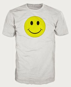 Late 80s/Early 90s Acid House Smiley Face T-shirt - white or black £8.99