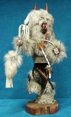 This Genuine Navajo Kachina Doll is hand made by Native Americans of the Navajo Nation in New Mexico.