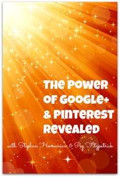 The Power of Google+ and Pinterest Revealed http://pegfitzpatrick.com/2013/09/11/the-power-of-google-and-pinterest-revealed/