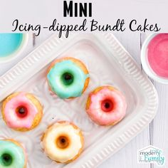 Mini Bundt Cakes - these are adorable and perfect for a party!