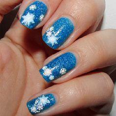 Snow Stars Colour Stickers | Nail Art Supplies | Sparkly Nails #christmas #xmas…