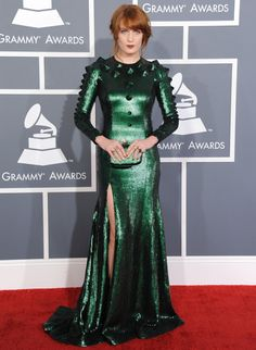 Custom green sequinned Givenchy for Florence Welch. One can dream, right?