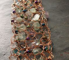Jewelry Tutorial. Wire Crochet with Beads by VCArtisanOriginals