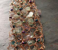 Crochet Alambre con Perlas y piedras
