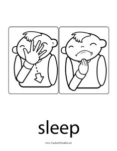This printable sign language sign has two parts to show the tired toddler making a pulling motion across his face to indicate Sign Language Phrases, Sign Language Alphabet, Sign Language Interpreter, Learn Sign Language, American Sign Language, Libra, Free Learning Websites, Deaf Children, Asl Signs