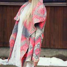 Winter Wanderer Sweater in Coral, Sweet Native Sweaters from Spool 72. | Spool No.72