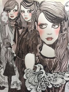 """Gossip"" Bora Aksu Illustration 2016"