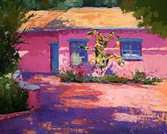 Rose Cottage by Barbara Mulleneaux Oil ~ 8 x 10