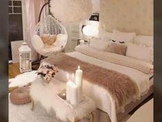 Romantic Bedroom Decor, Bedroom Decor For Teen Girls, Cute Bedroom Ideas, Room Ideas Bedroom, Cozy Bedroom, Home Decor Bedroom, Modern Bedroom, Ideas For Bedrooms, 1930s Bedroom