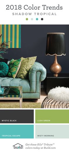 2018 Paint Color Trends - Shadow Tropical