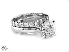 Round Solitaire with Eternity Band