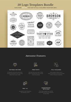 50 Logo Templates Bundle by GraphicBurger on @creativemarket