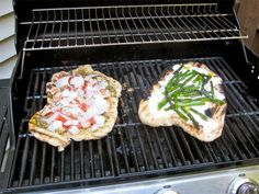 Shrimp with Pesto and Grilled Asparagus with Ricotta Grilled Pizza ...