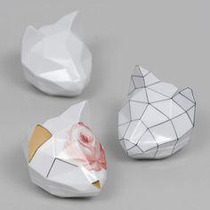 CAT x AUGARTEN / painted porcelain box