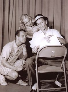 Eva Marie Saint, Paul Newman and Frank Sinatra.