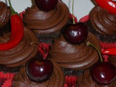Top New Recipes: Dark Chocolate Bacon Cupcakes