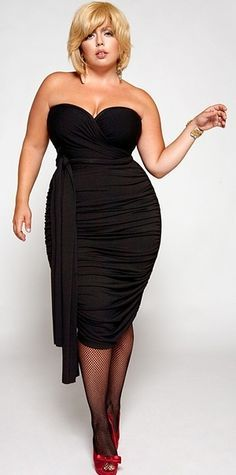 Black dress fuller figure