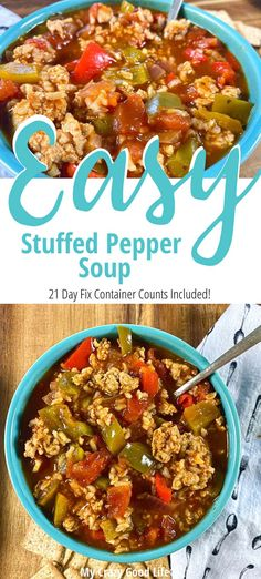 This crock pot stuffed pepper soup recipe is an easy weeknight meal! Instant Pot Stuffed Pepper soup with rice is a kid-friendly dinner that you can make in the Crockpot or any Electric Pressure Cooke Healthy Slow Cooker, Healthy Crockpot Recipes, Healthy Dinner Recipes, Soup Recipes, Health Recipes, 21 Day Fix, Stuffed Pepper Soup Crockpot, Stuffed Peppers Healthy, Best Instant Pot Recipe