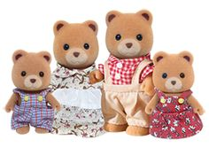 Calico Critters Sugar Bear Family