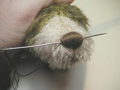 Teddy Bears Tutorials: Nose embroidery