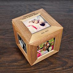 Personalised Oak Photo Box, £17.99