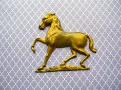 Large Brass Horse Finding