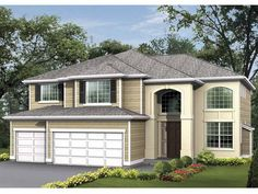 Eplans Craftsman House Plan - Elegant Curved Staircase - 3260 Square Feet and 4 Bedrooms(s) from Eplans - House Plan Code HWEPL55293