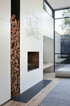 rangement bois cheminée