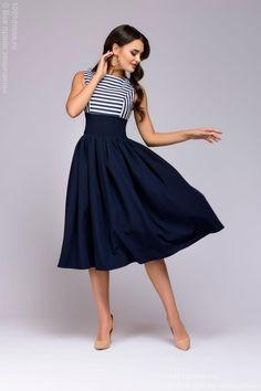 Платье темно-синее 1001DRESS Dress Outfits, Casual Dresses, Fashion Dresses, Dress First, New Dress, Batik Fashion, Spring Dresses, Beautiful Outfits, Dress To Impress