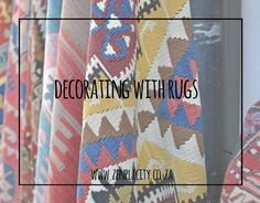 Decorating with rugs offers a simple way to inject some fresh new style into any room, with just a single statement rug. Simple Living Blog, Decorating, Rugs, Cards, Decor, Farmhouse Rugs, Decoration, Carpets, Dekoration