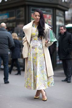 Street Style - Street Style Haute Couture Spring 2014