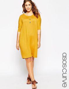 ASOS Curve | ASOS CURVE The T-Shirt Dress at ASOS