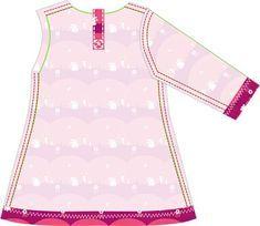 Fabrik der Träume: Kostenlose Nähanleitung Mädchen-Kleid aus Jersey