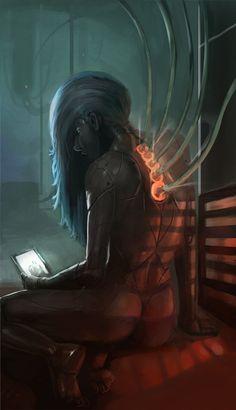 Android Geisha by morganagod